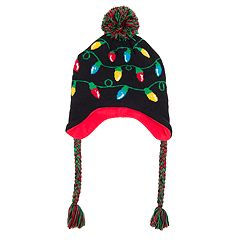 Wembley Holiday Light-Up Knit Peruvian Hat