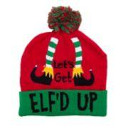 "Wembley ""Let's Get Elf'd Up"" Light-Up Beanie"