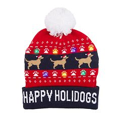 Wembley 'Happy Holidogs' LED Light-Up Beanie