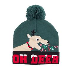 Wembley 'Oh Deer' Sick Reindeer LED Light-Up Beanie