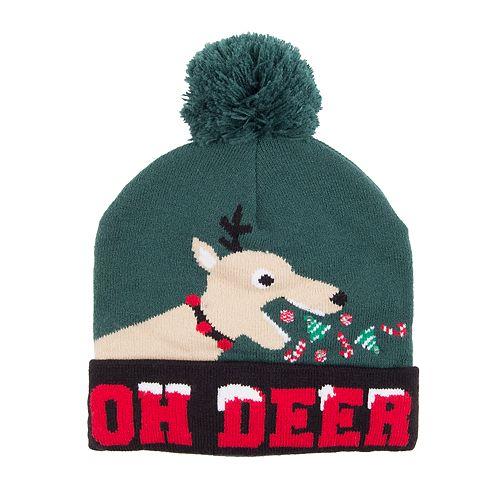 "Wembley ""Oh Deer"" Sick Reindeer LED Light-Up Beanie"