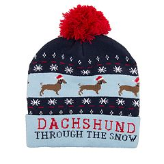 Wembley 'Dachshund Thru the Snow' Musical Beanie