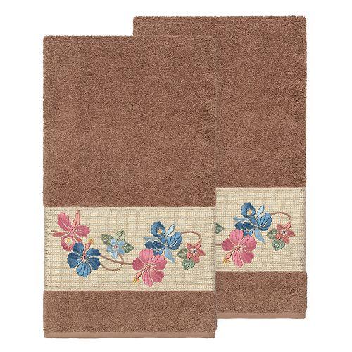 Linum Home Textiles Turkish Cotton Caroline Embellished Bath Towel Set