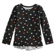 Girls 4-12 Jumping Beans® Long-Sleeve Glitter Graphic Ruffled-Back Tee