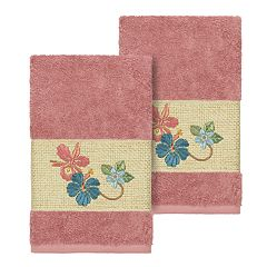 Linum Home Textiles Turkish Cotton Caroline Embellished Hand Towel Set