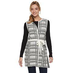 Women's ELLE™ Jacquard Tie-Front Sweater Vest