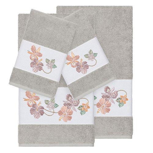 Linum Home Textiles Turkish Cotton Caroline 4-piece Embellished Towel Set