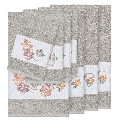 Linum Home Textiles Turkish Cotton Caroline 8-piece Embellished Towel Set