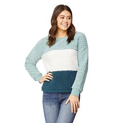 Juniors' Wallflower Sherpa Pullover Top
