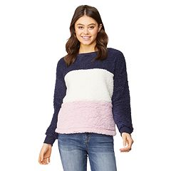 Juniors' WallFlower Sherpa Pullover Top