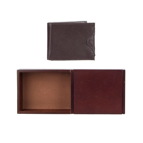 Men's Dockers RFID-Blocking Passcase Wallet with Wooden Valet Tray