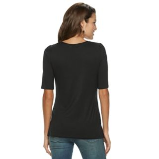 Women's Apt. 9® Ruched Sleeve Tee