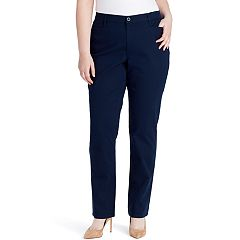 Plus Size Gloria Vanderbilt Amanda Classic Tapered Trouser Pants