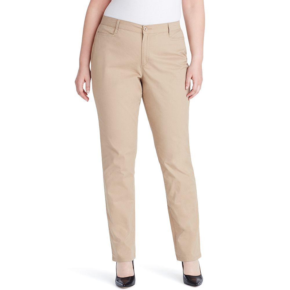 Plus Size Gloria Vanderbilt Amanda Classic Tapered Trouser Pants