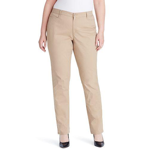 6c31922550415 Plus Size Gloria Vanderbilt Amanda Classic Tapered Trouser Pants