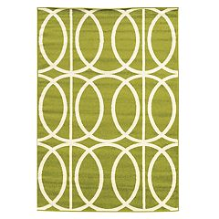 Linon Claremont Links Geometric Rug