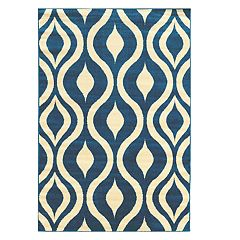 Linon Claremont Drops Geometric Rug