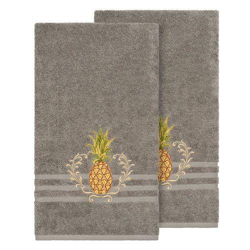 Linum Home Textiles Turkish Cotton Welcome Embellished Bath Towel Set