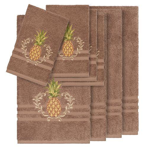 Linum Home Textiles 8-piece Turkish Cotton Welcome Embellished Towel Set