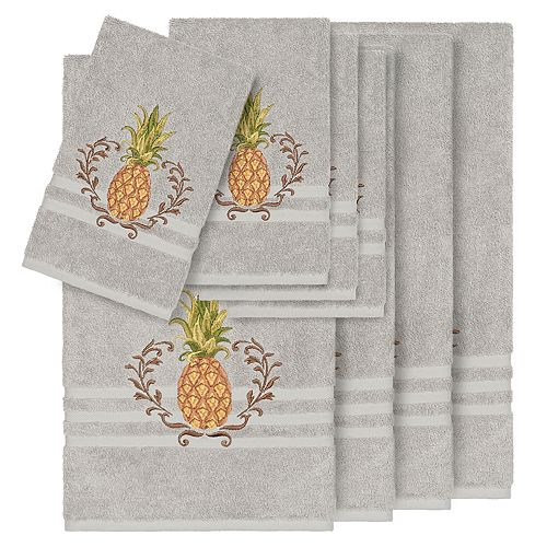Linum Home Textiles 8-piece Turkish Cotton Welcome Embellished Towel Set