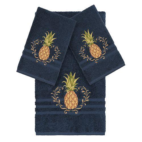 Linum Home Textiles 3-piece Turkish Cotton Welcome Embellished Towel Set