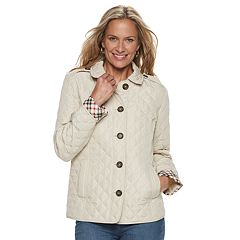 Women's Croft & Barrow® Quilted Button-Front Jacket