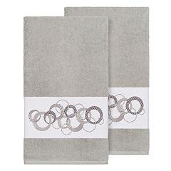 Linum Home Textiles Turkish Cotton Annabelle Embellished Bath Towel Set