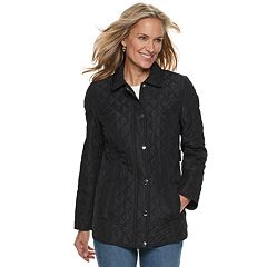 Women's Croft & Barrow® Quilted Snap-Front Jacket