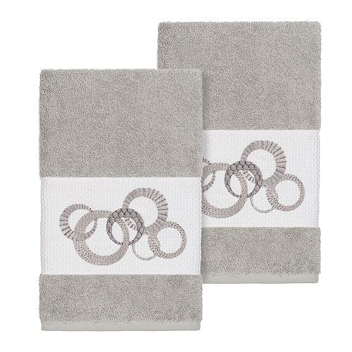 Linum Home Textiles Turkish Cotton Annabelle Embellished Hand Towel Set