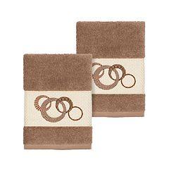 Linum Home Textiles Turkish Cotton Annabelle Embellished Washcloth Set