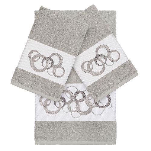 Linum Home Textiles Turkish Cotton Annabelle 3-piece Embellished Towel Set