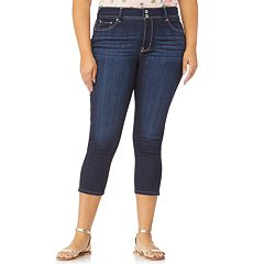 Juniors' Plus Size WallFlower Ultra Skinny Crop Jeans