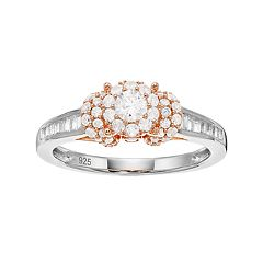 Lovemark Two Tone 10k Gold 3/4 Carat T.W. Diamond Cluster Ring