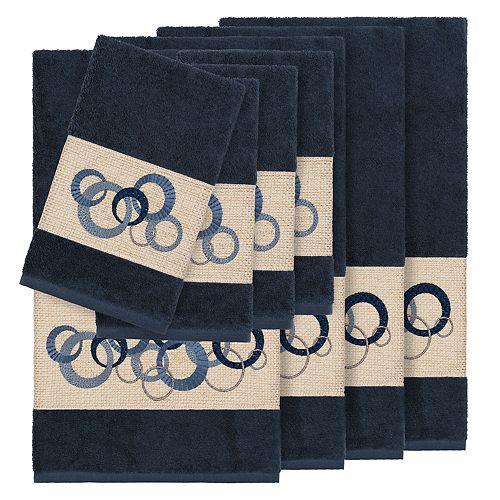 Linum Home Textiles Turkish Cotton Annabelle 8-piece Embellished Towel Set