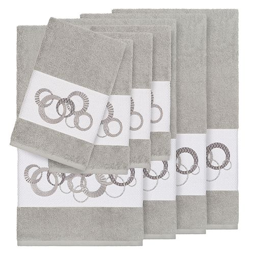 Linum Home Textiles Turkish Cotton Annabelle 8-piece Embellished Towel Set