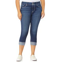 Juniors' Plus Size WallFlower Luscious Curvy Crop Jeans