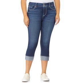 Juniors' Plus Size WallFlower Insta Stretch? Luscious Curvy Crop Jeans
