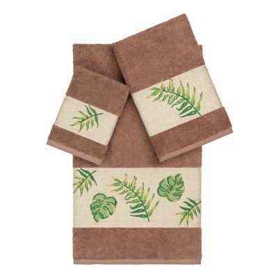 Linum Home Textiles Turkish Cotton Zoe 3-piece Embellished Towel Set