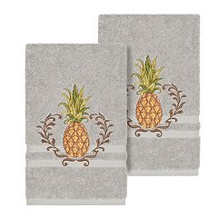 Linum Home Textiles Turkish Cotton Welcome Embellished Hand Towel Set