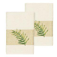 Linum Home Textiles Turkish Cotton Zoe Embellished Hand Towel Set