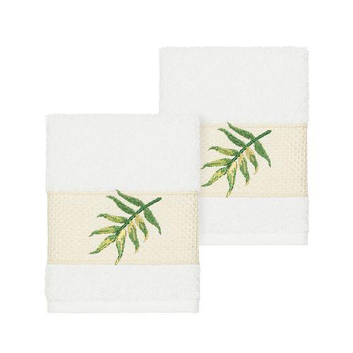 Linum Home Textiles Turkish Cotton Zoe Embellished Washcloth Set