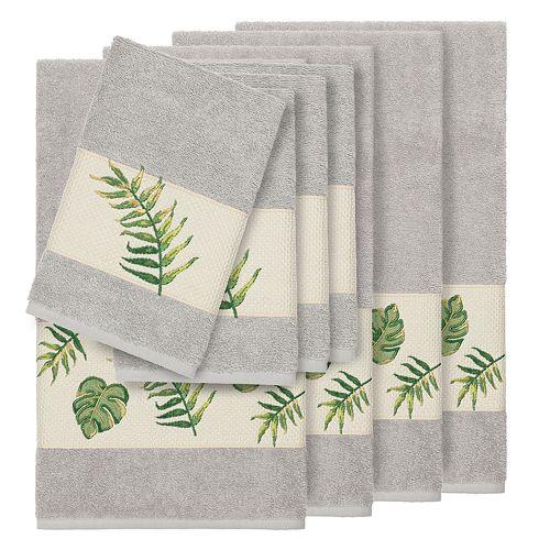 Linum Home Textiles Turkish Cotton Zoe 8-piece Embellished Towel Set