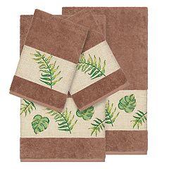 Linum Home Textiles Turkish Cotton Zoe 4-piece Embellished Towel Set