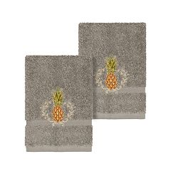 Linum Home Textiles Turkish Cotton Welcome Embellished Washcloth Set