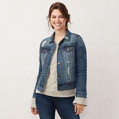 5bf0745d55ab87 Women s LC Lauren Conrad Jean Jacket