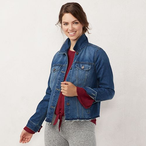 f743532d4c Women s LC Lauren Conrad Jean Jacket