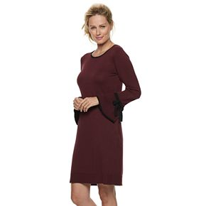 Women's ELLE? Tie-Sleeve Sweater Dress