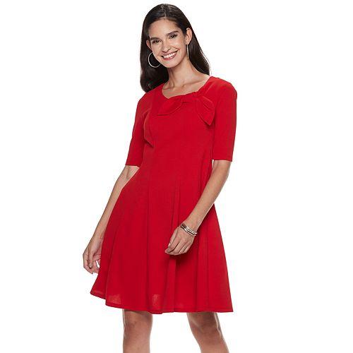 Women's ELLE™ Bow Fit & Flare Dress