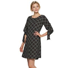 Women's ELLE™ Ruched-Sleeve A-Line Dress