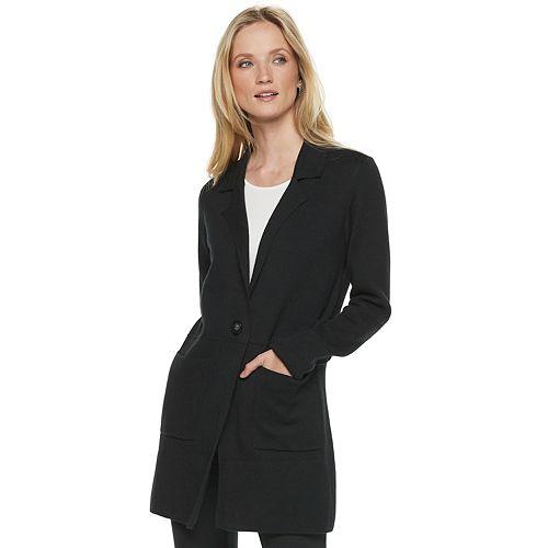 Women's ELLE™ Long Sweater Blazer
